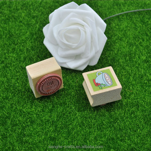 Gift wooden stamp set kraft box packing rubber stamp for cardmaking
