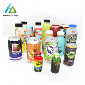 PET heat shrink sleeve label for beverage bottle