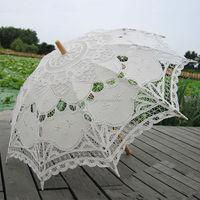 Beige Lace Umbrella for wedding Decoration