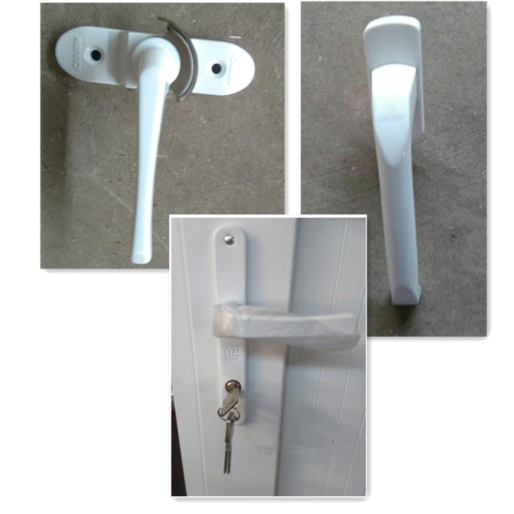 Customized casement factory direct upvc doors with half for Upvc doors direct