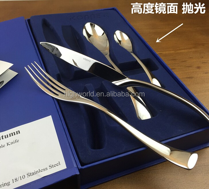 24pcs cutlery set packing box , cutlery set paper package box