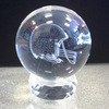 80mm personalized laser engraved optical crystal ball with base for souvenirs gifts favors