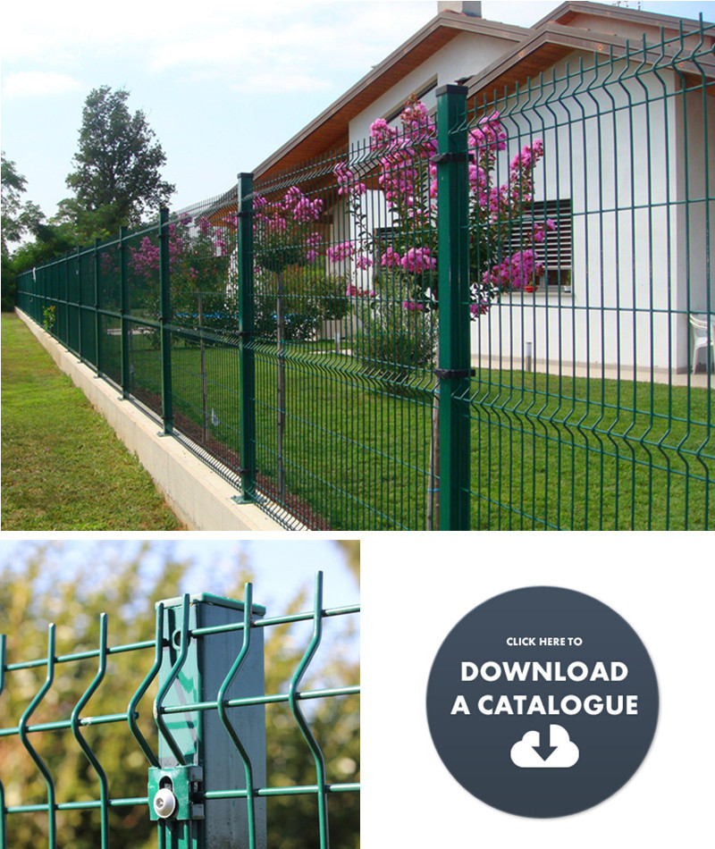 Trade Assurance Pvc Coated V Pressed Welded Wire Mesh Fence,Panel In ...