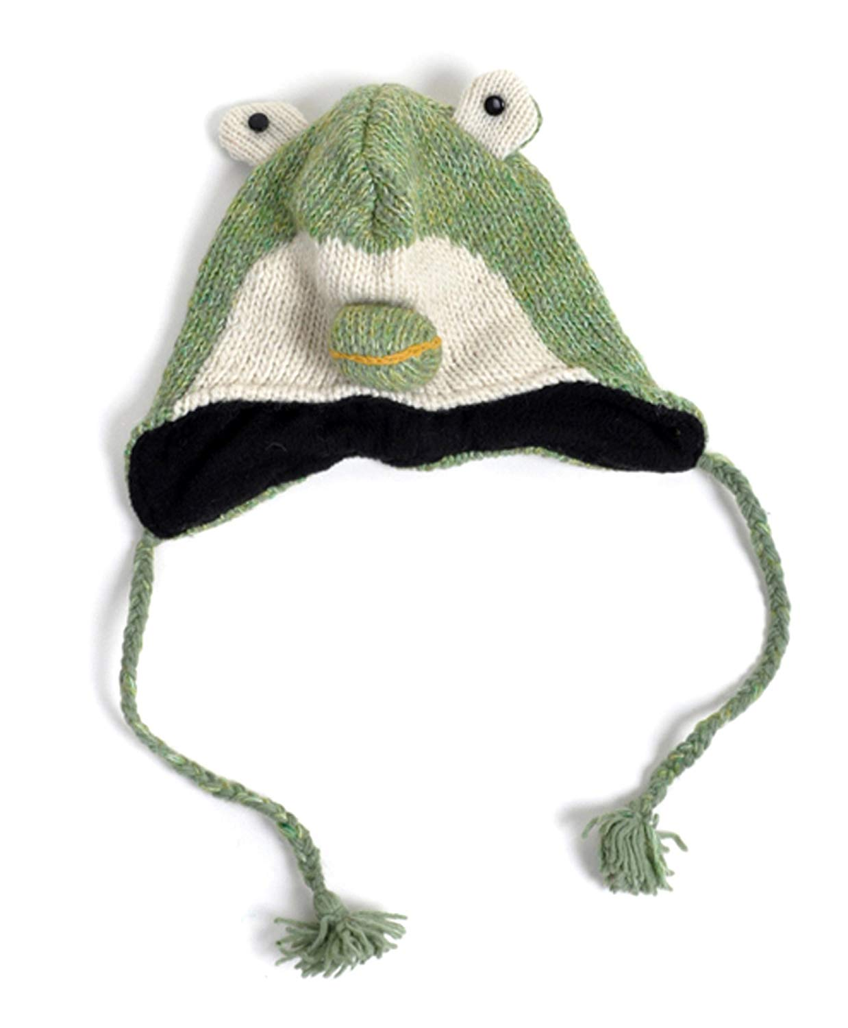 Get Quotations · 100% Wool  Hat-imals  Plush Knit Winter Hats (Wool  Collection) ab0e33509662