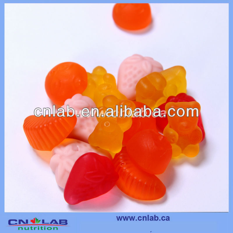 OEM serivce flintstone gummy vitamins heart shape gummy candy flintstone gummy vitamins