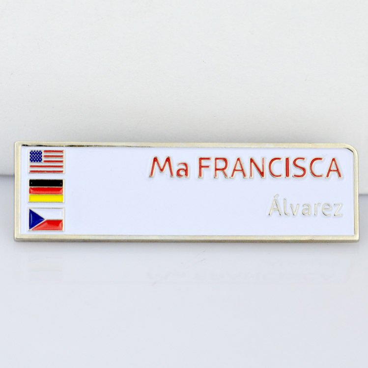 Custom hot selling cheap free sample national flag lapel pin badge metal