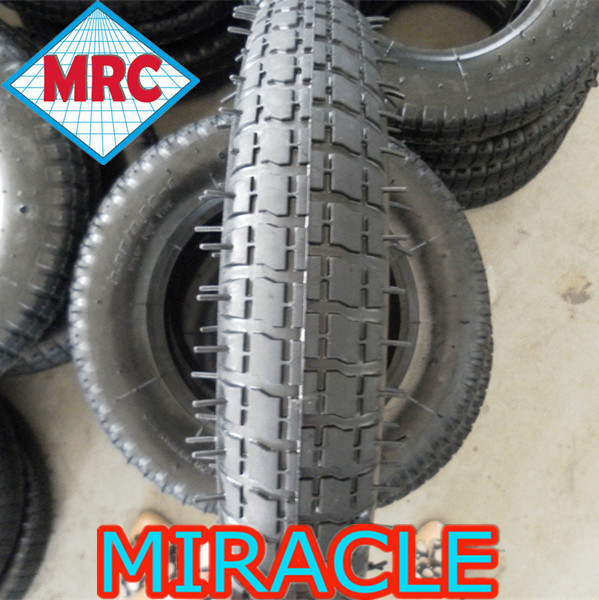 "China wholesale 13""x3"" wheel barrow tyre, small rubber trolley tire 3.25/3.00-8"