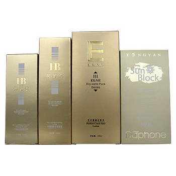 Box p-11 4 Colors Printing Silver Gold Laser Paperboard Cosmetic Packaging Boxes