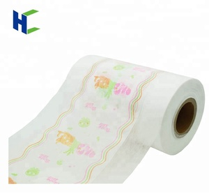 super soft breathable cloth like laminating backsheet for baby adult diaper raw material