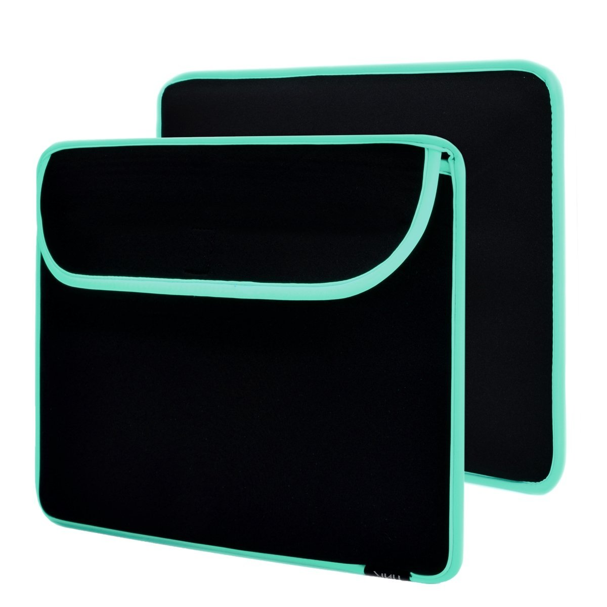 "Unik Case Hot Edge Mint Green on Black Neoprene Laptop Sleeve Bag Case Cover for All 13"" 13-Inch Laptop Notebook / Macbook Pro / Macbook Unibody / Macbook Air / Ultrabook / Chromebook"