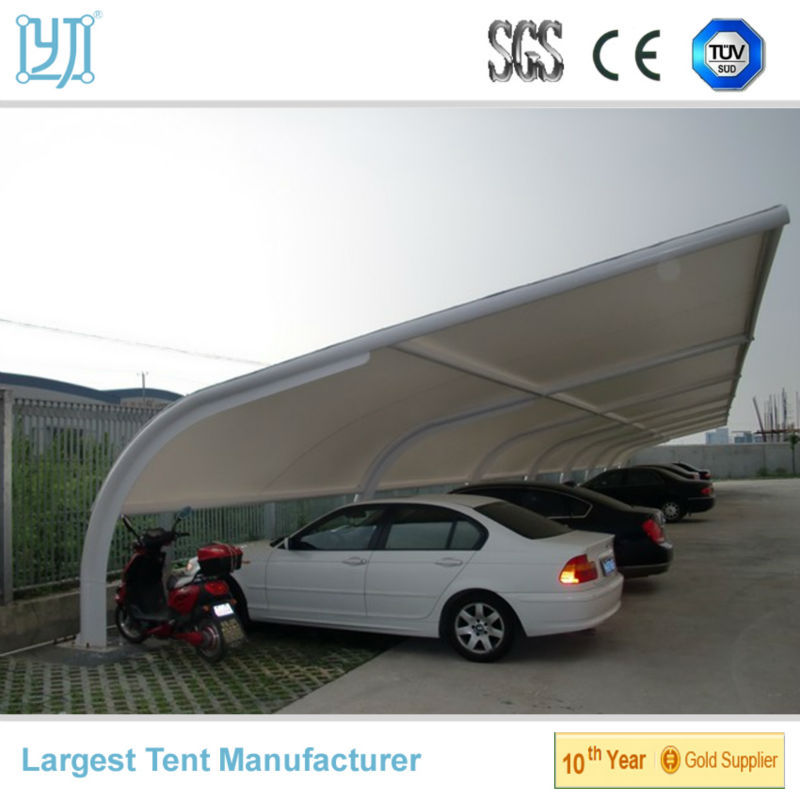 Elastomeric Membrane Parking : Cantilever zeil japanse carport treksterkte membraan