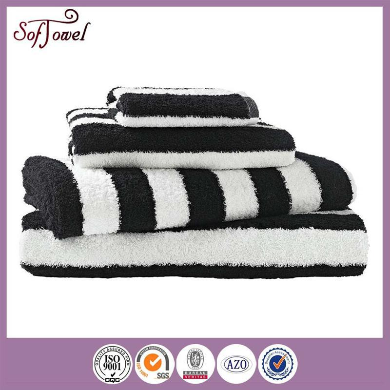 43cd4ee8cbc Black And White Striped Bath Towels 70 140cm - Buy Black And White ...