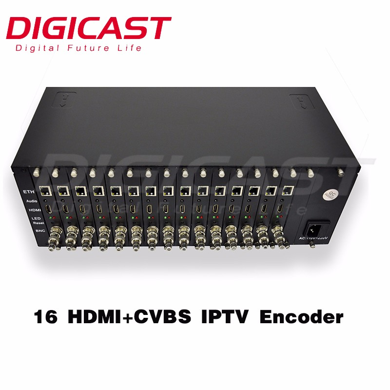 FREE SHIPPING 3 U Rack 16 Channels H.264 hdmi rtmp encoder Live Streaming Service ip <strong>satellite</strong> <strong>receiver</strong> encoder ip