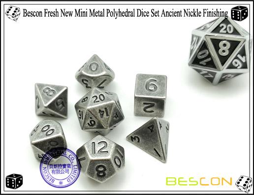 metal sólido bronze antigo, mini metal poliédrico
