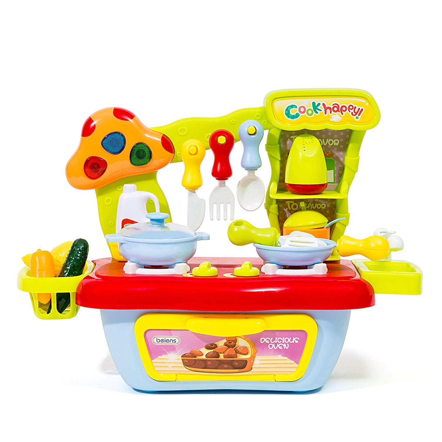 Get quotations · the m world children compact kitchen playset stove top and oven set with sound and light