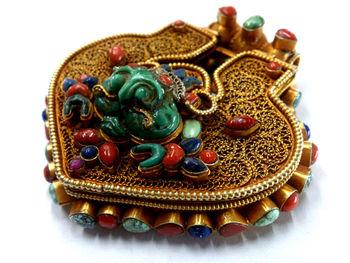 Silver Tibetan Amulet Box - Buy Amulet Box,Filigree,Tibetan Handmade  Jewelery Product on Alibaba com