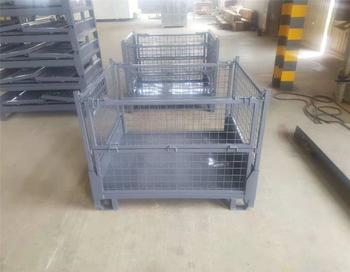 Collapsible Pallets Foldable Iron Wire Bulk Crates Steel Mesh Storage Shipping Container Buy Palettes Pliables Caisses En Vrac Pliables De Fil De Fer Conteneur De Stockage Et D Expedition De Maille Product On