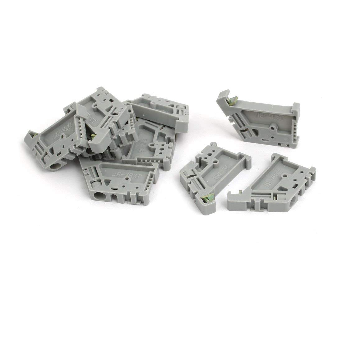 uxcell 10pcs DIN Rail Mount Guide Support Fixing Terminal Block