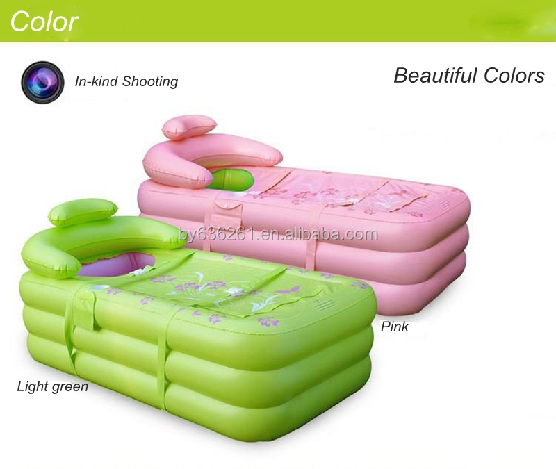 Green And Pink Large Space Inflatable Indoor Spa Portable Bathtub ...