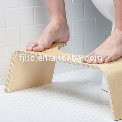 Home Furniture General Use and Bathroom Accessories Bamboo Wood Toilet Squatting Stool