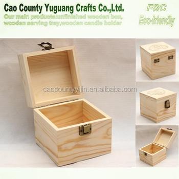 solid pine wood jewelry boxcube wood pine boxpine wooden box - Wood Jewelry Box