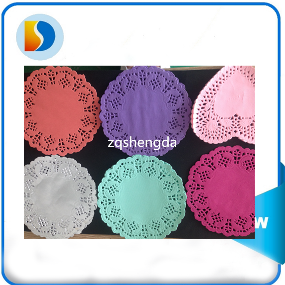 "Nice table placemats best service wood paper round lace paper doilies placemats 6.5"" for restaurant / ordinary life"