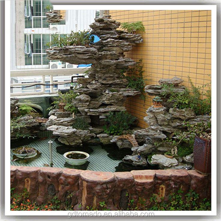Artificial Fibergl Rock Waterfall Home Decoration Rockery Indoor For Garden