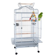 8324-hot laboratorio vendita bianco animale filo allevamento aviario cage con pappagallo gabbia dell'animale domestico