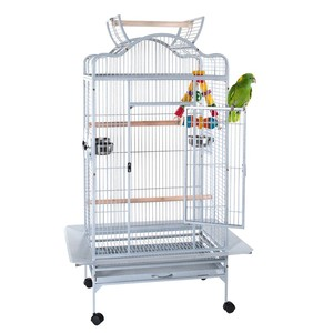 8324-hot sale white laboratory animal wire bird breeding cage with parrot pet cage
