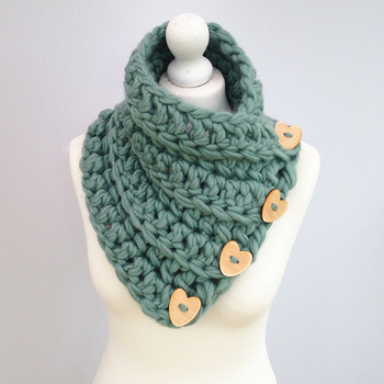 Fashion Ky1802 Women Chunky Knit Cowl Scarf Neck Warmer Hand Neck