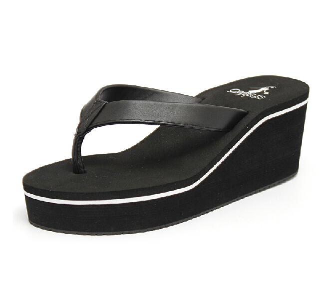 15791ac7bb040 Get Quotations · 2015 summer flip flops women platform sandals wedges beach  slippers for women ladies footwear thongs sandalias