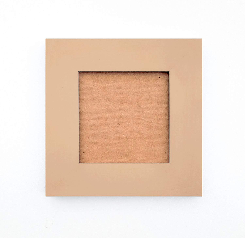 Handmade Picture Frames - Classic Beige Matte Finish over Solid Wood - 4X4, 5X5, 6X6, 7X7, 8X8, 4X6, 5X7, 8X10, 8.5X11, 8X12