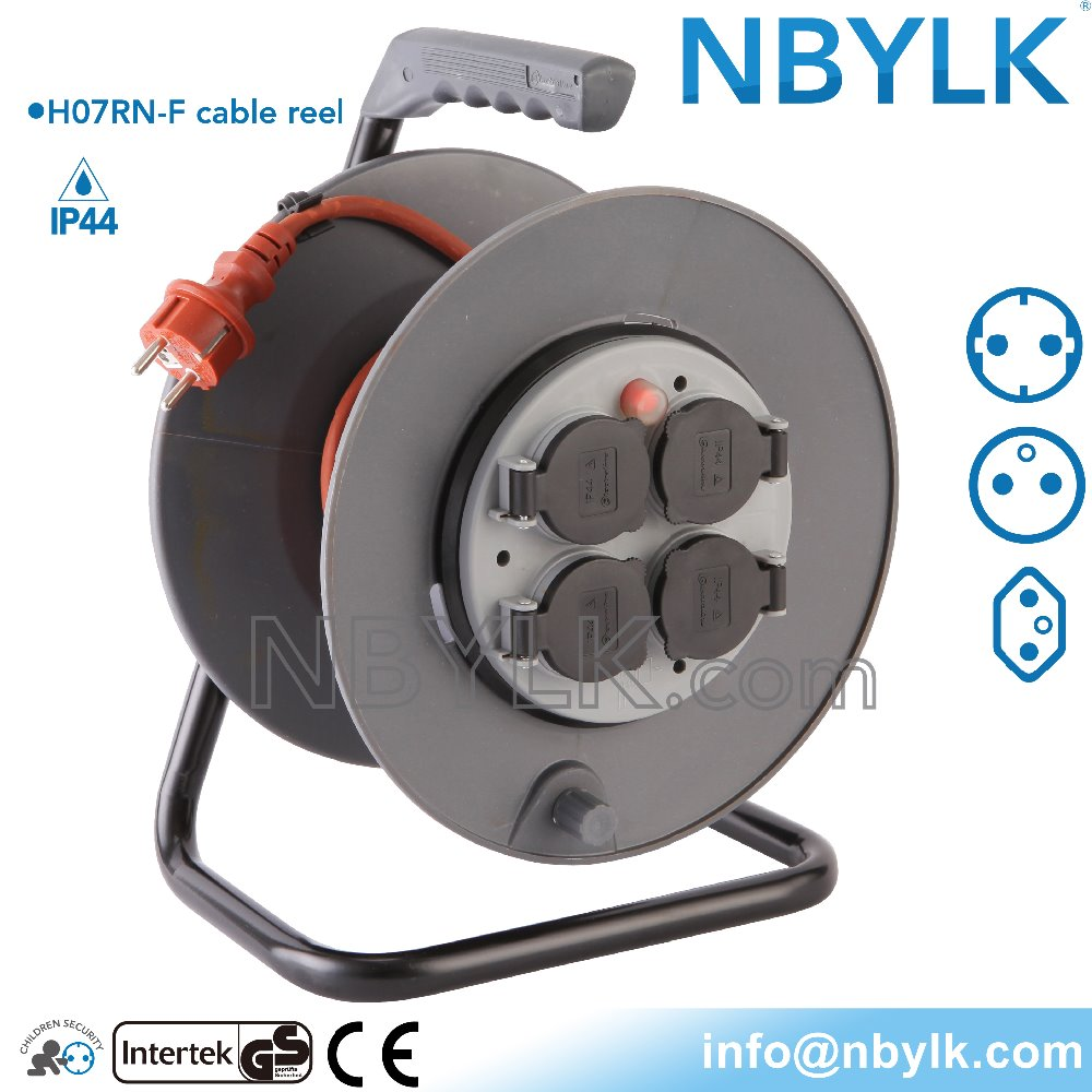 Best Selling Europe Waterproof Cable Reel 16a Iron Wire Reel 250v ...