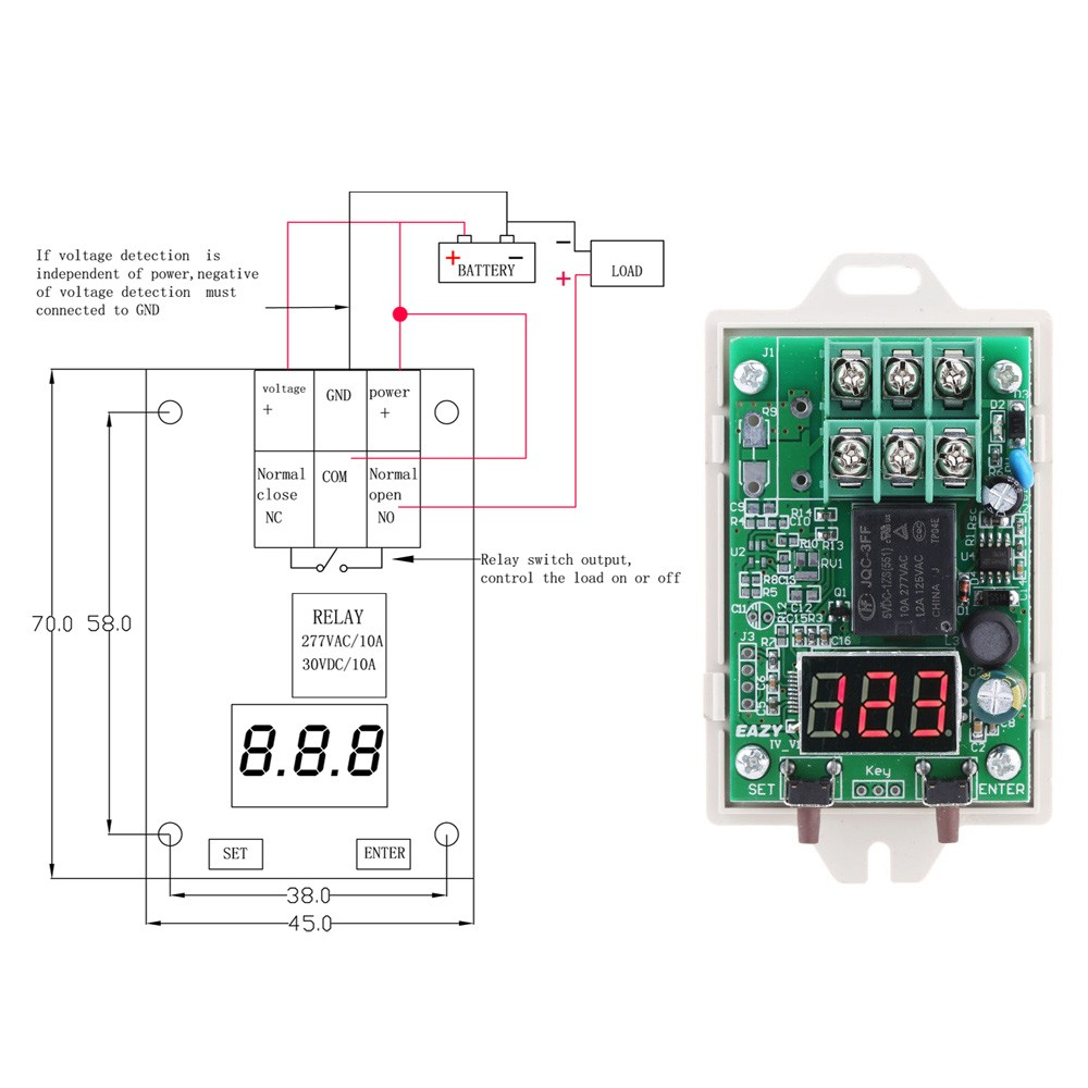 Iv U3 12 V 24 Vdc Voltage Digital Control Relay Switchover