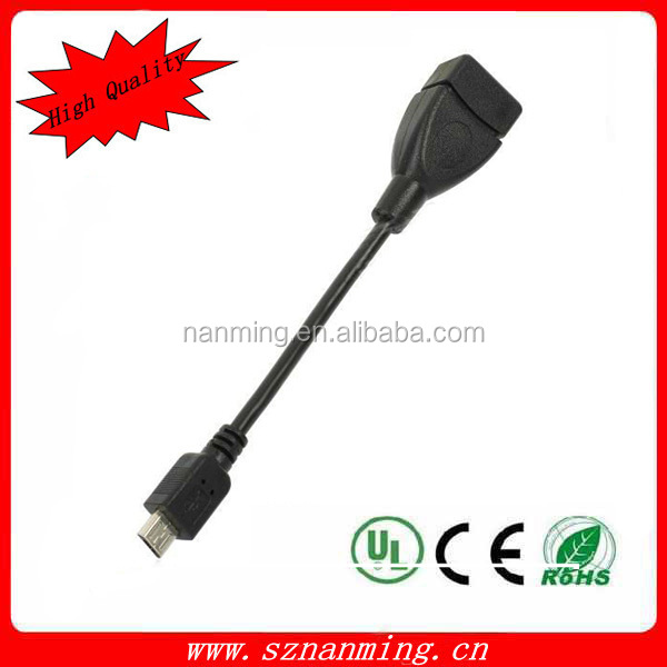 USB A Female to 5Pin Micro USB OTG Cable