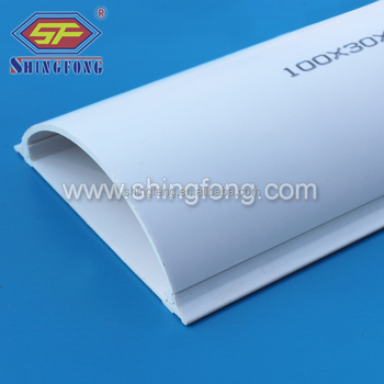 Factory Price Stone Grey PVC Floor Wire Moulding With Red Sticker Made In  Gold Supplier