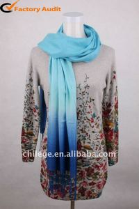 high quality 50%cashmere50%silk blend scarf shawl wrap