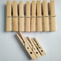 Large bamboo clothespin wood clip metal pegs