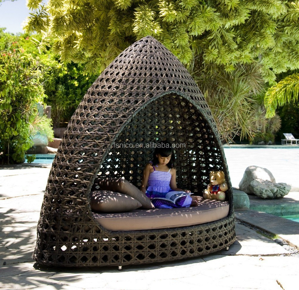 Outdoor cabana furniture bed