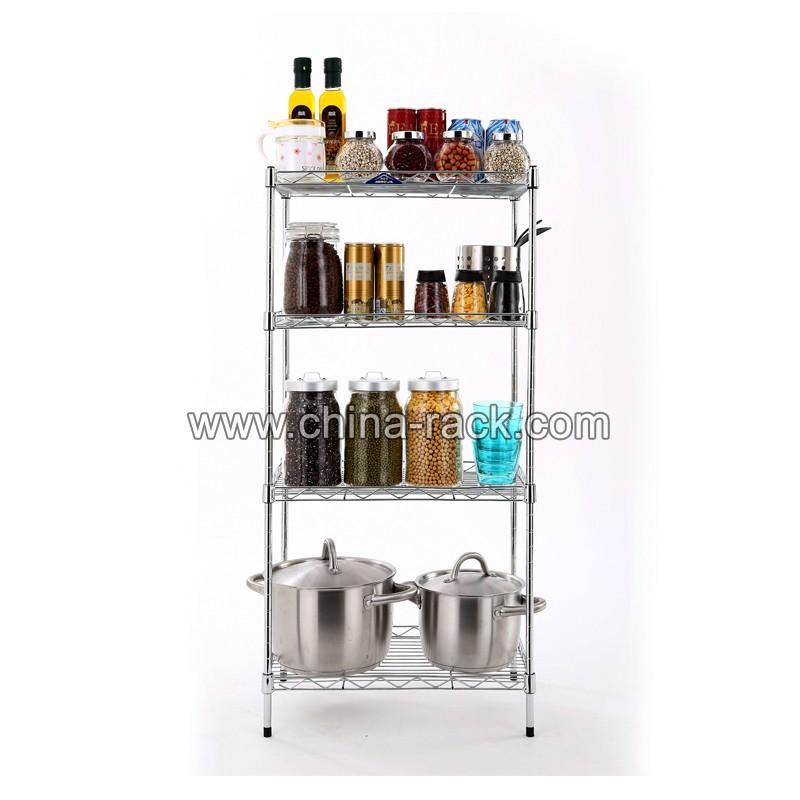 household kitchen chrome metal wire shelving buy. Black Bedroom Furniture Sets. Home Design Ideas