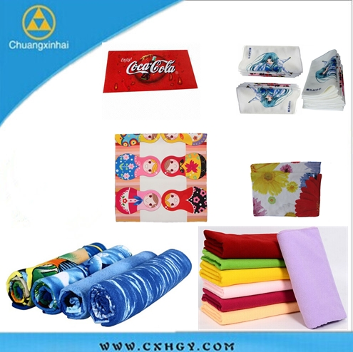 Logo Design sublimation printing gift packing handkerchief