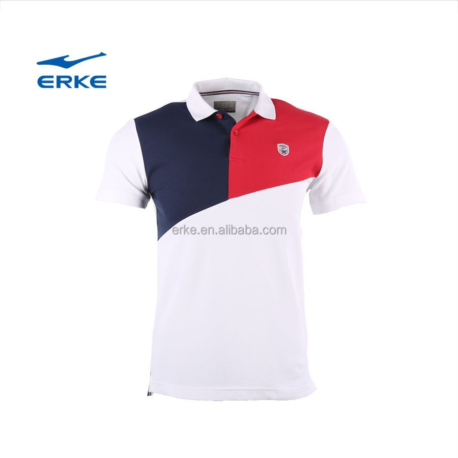 Desain t shirt elegan - Erke 2015 Eksklusif Desain Elegan Mens Musim Panas Mirco Kerah Lengan Pendek Polo T Shirt 100