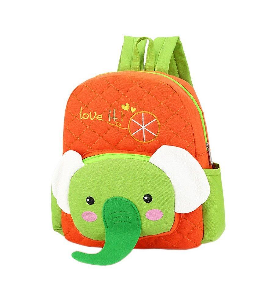 c33103102da2 Cute Orange Elephant School Bag Toddler Backpack Kids Travel Canvas  Backpacks
