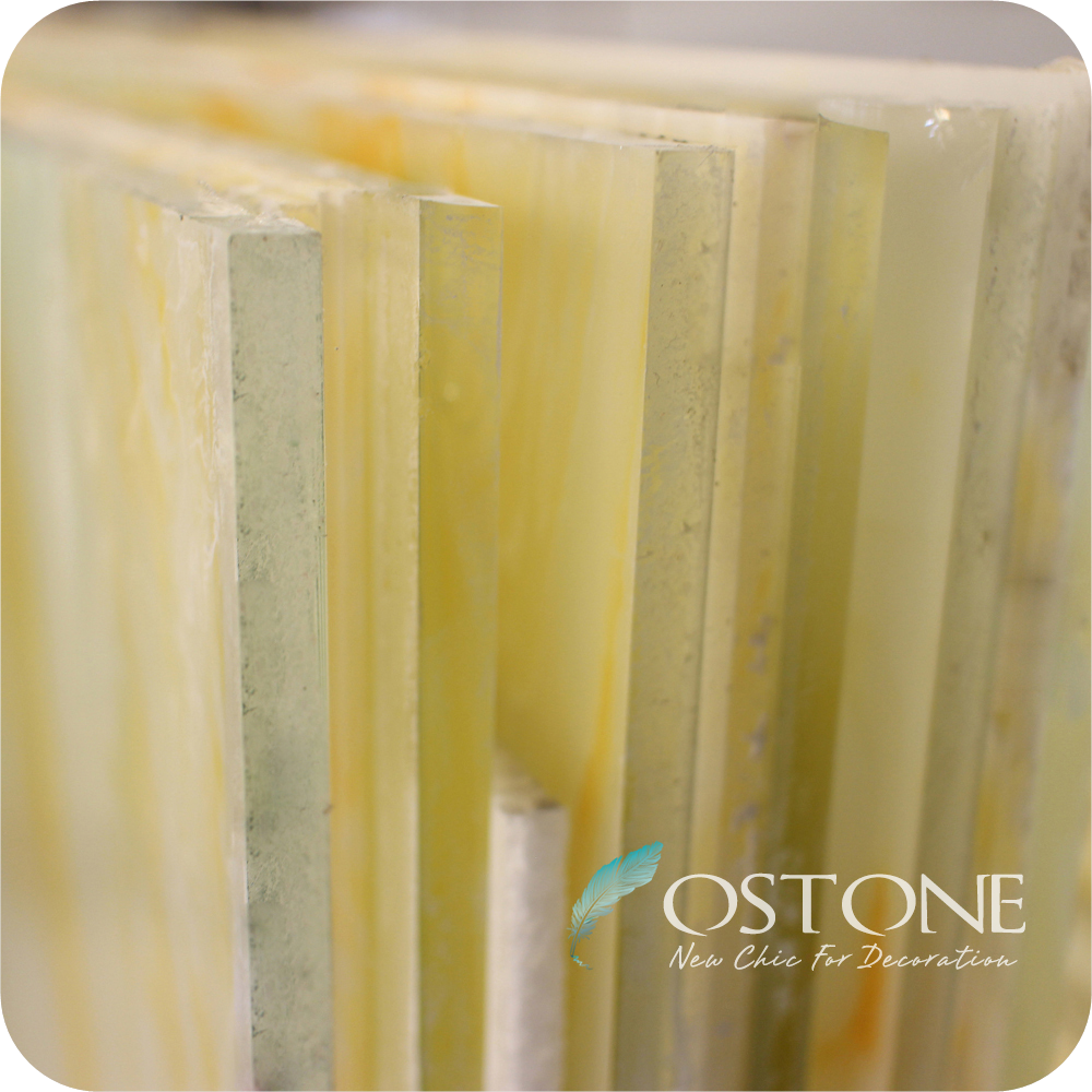 Translucent Onyx Marble Composite Tiles Laminated Glass Price