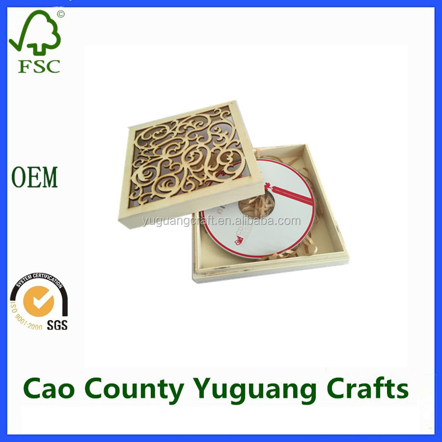 Fashion and Elegant CD packing Wooden Box ,CD Storage Box