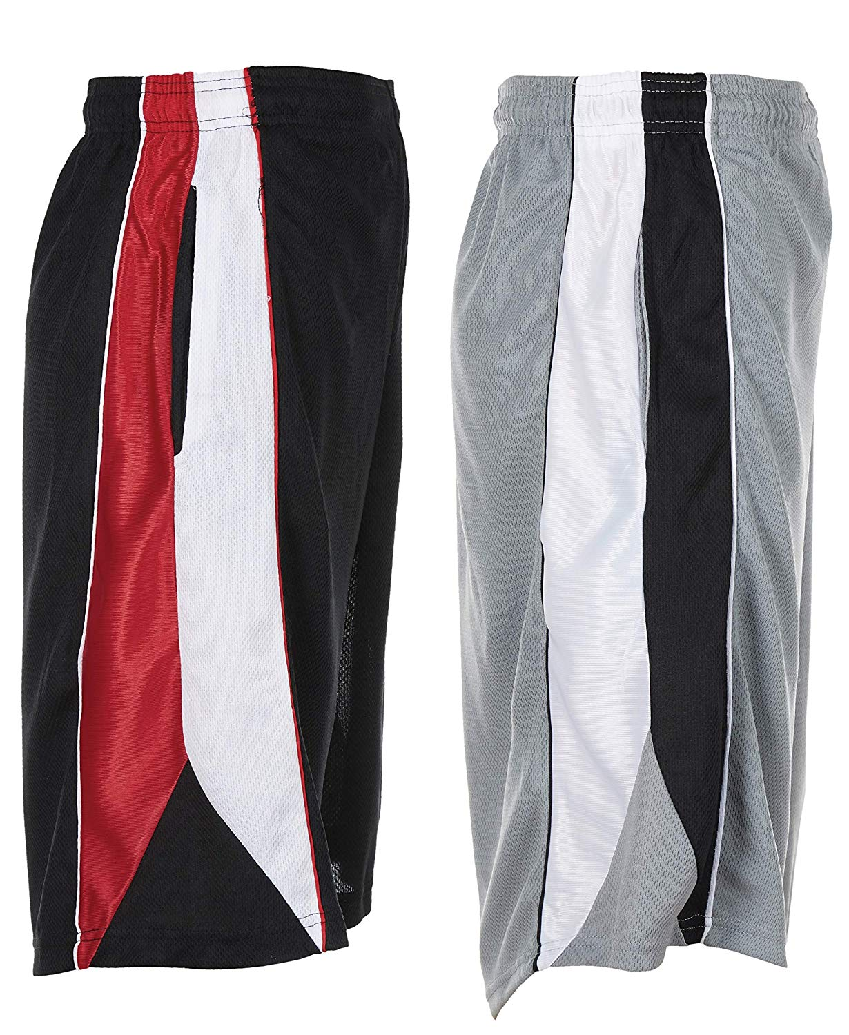 Unique Style 2 Pack Mens Athletic Basketball Long Shorts for Men with Pockets