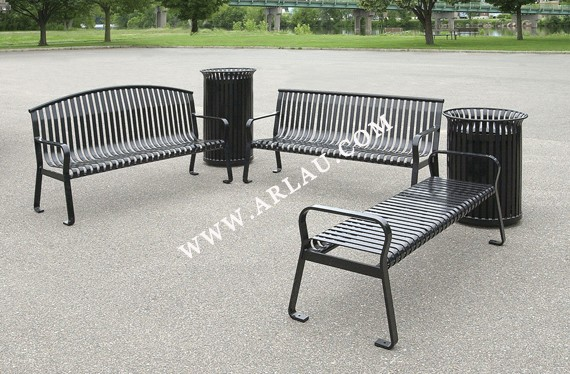 Arlau Modern Furniture Cheap Waterproof Park Benches Metal Garden