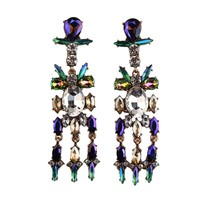 latest fashion earrings ASTERIA METALLIC EMERALD crystal stud earrings ANDROMEDA WATERFALL EARRINGS 71910