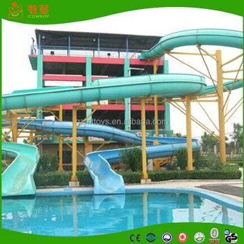 New interactive water slides fibreglass swimming pool - Used swimming pool slides for sale ...