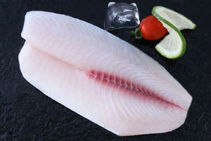 cleaning skinned tilapia fillet, deep skinned, belly off